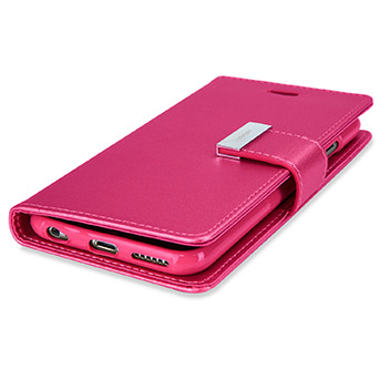 Mercury Rich Diary iPhone 6S / 6 Premium Wallet Case - Hot Pink