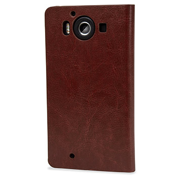 Olixar Leather-Style Microsoft Lumia 950 Wallet Case - Brown