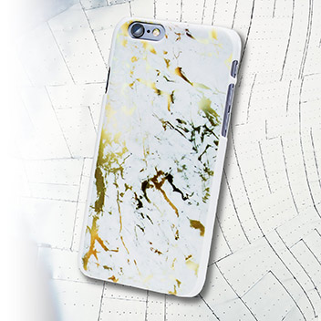 Adarga Marble-Effect iPhone 6S / 6 Shell Case - Gold / White