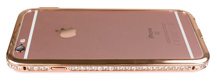 Olixar Crystal Bling iPhone 6S / 6 Metal Bumper Case - Rose Gold