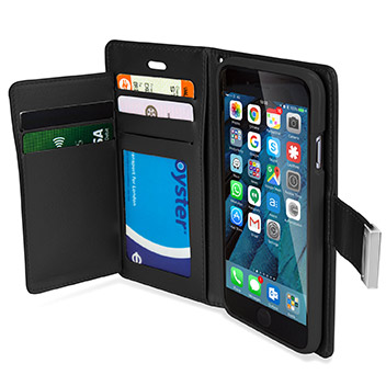 Mercury Rich Diary iPhone 6S Plus / 6 Plus Wallet Case - Black