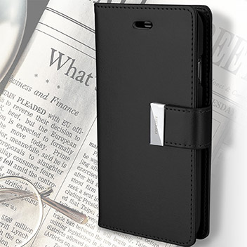 Mercury Rich Diary iPhone 6S Plus / 6 Plus Wallet Case - Black