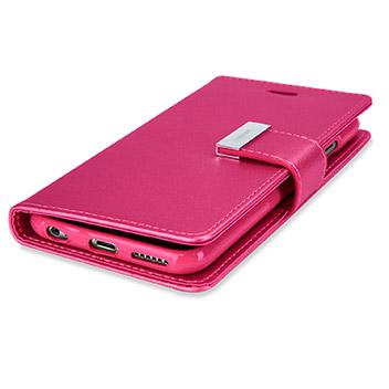 Mercury Rich Diary iPhone 6S Plus / 6 Plus Wallet Case - Hot Pink