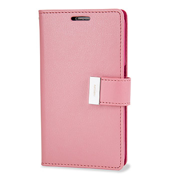 not mercury rich diary samsung galaxy s6 premium wallet case pink can