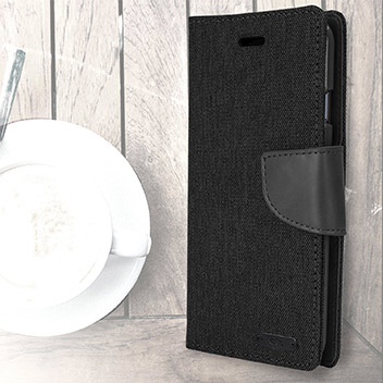 Mercury Canvas Diary iPhone 6S / 6 Wallet Case - Black