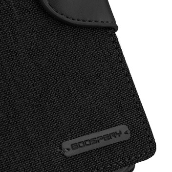 Mercury Canvas Diary Samsung Galaxy S6 Wallet Case - Black