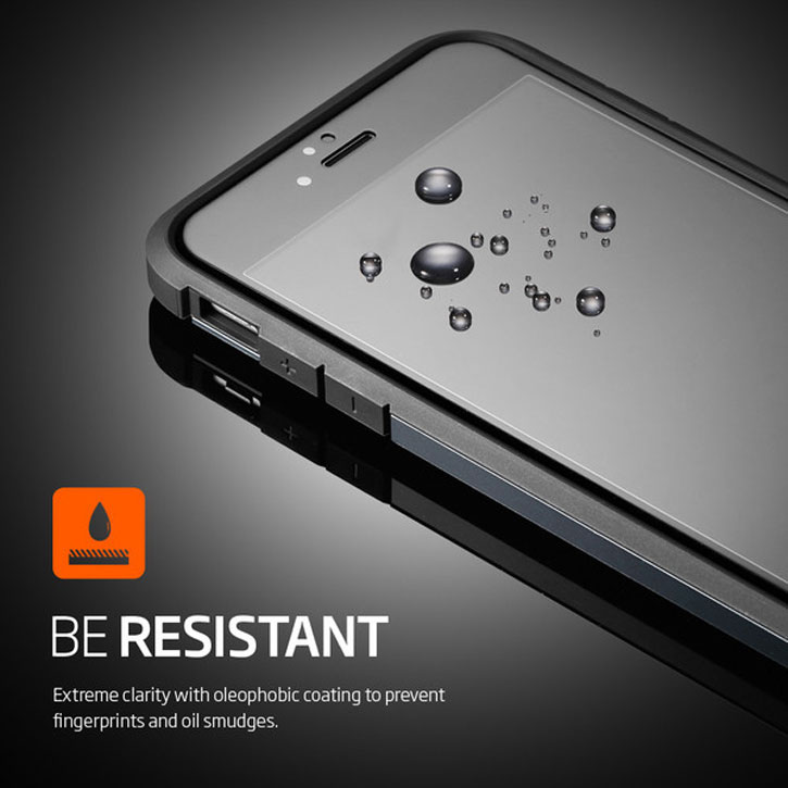 Spigen Full Cover iPhone 6S Tempered Glass Screen Protector - Black