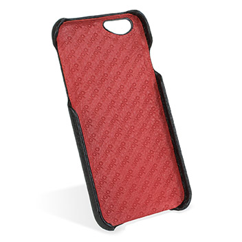 Vaja Grip iPhone 6S / 6 Premium Leather Case - Black / Rosso