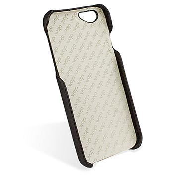 Vaja Grip iPhone 6S / 6 Premium Leather Case - Dark Brown / Birch