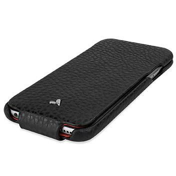 Vaja Ivo Top iPhone 6S / 6 Premium Leather Flip Case - Black / Rosso