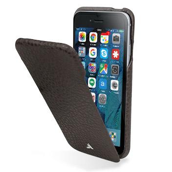 Vaja Ivo Top iPhone 6S / 6 Premium Leather Flip Case - Dark Brown