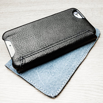 Vaja Wallet Agenda iPhone 6S / 6 Premium Leather Case - Black