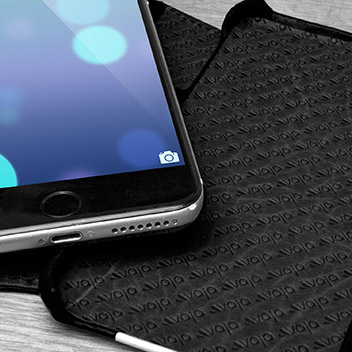 Vaja Wallet Agenda iPhone 6S Plus Premium Leather Case - Black