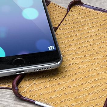 Vaja Wallet Agenda iPhone 6S Plus Premium Leather Case - Brown