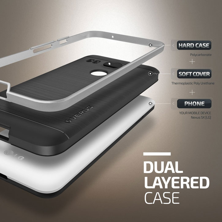 Verus High Pro Shield Series Nexus 5X Case - Satin Silver