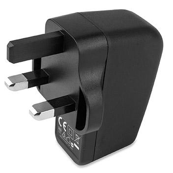 aircharge Slimline Qi Wireless Charging Pad and UK Plug - Black