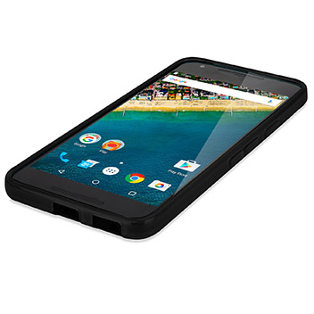 FlexiShield Nexus 5X Gel Case - Solid Black