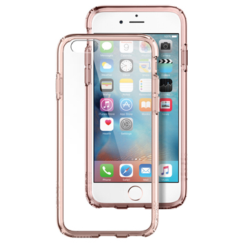 Spigen Ultra Hybrid iPhone 6S Plus / 6 Plus Bumper Case - Rose Crystal