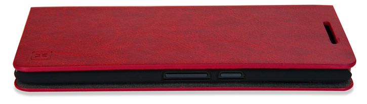 Olixar Leather-Style Nexus 6P Wallet Stand Case - Red