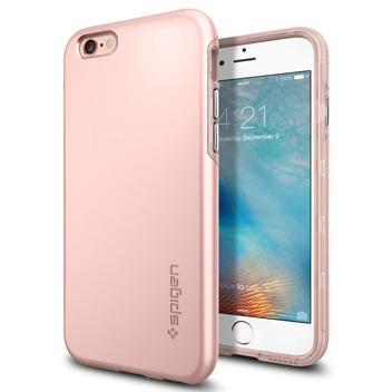 Funda iPhone 6S Plus / 6 Plus Spigen Thin Fit Hybrid - Rosa dorado