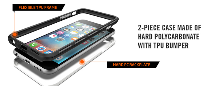 Spigen Thin Fit Hybrid iPhone 6S Plus / 6 Plus Shell Case - Rose Gold