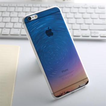 Ultra-Thin iPhone 6S TPU Gel Case - Night Swirl