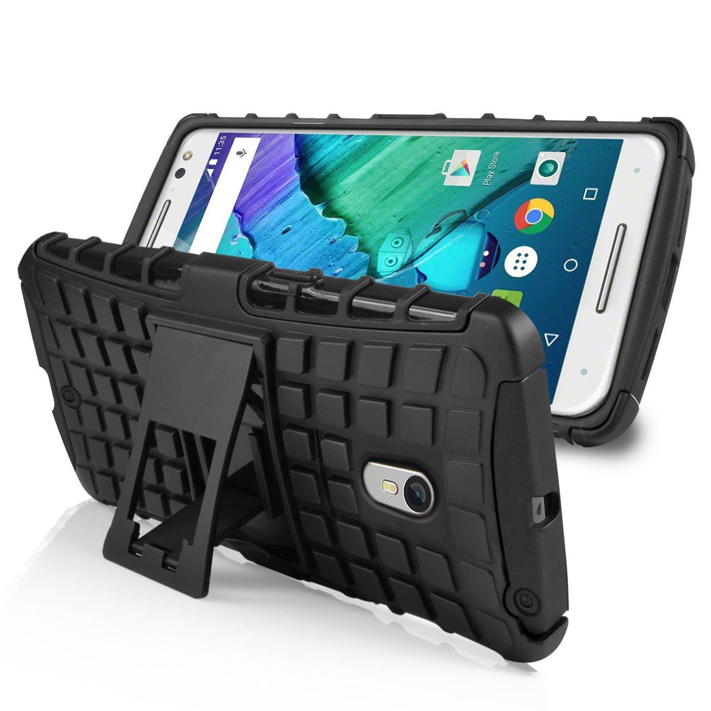 Armourdillo Hybrid Protective Case for Motorola Moto X Style - Black