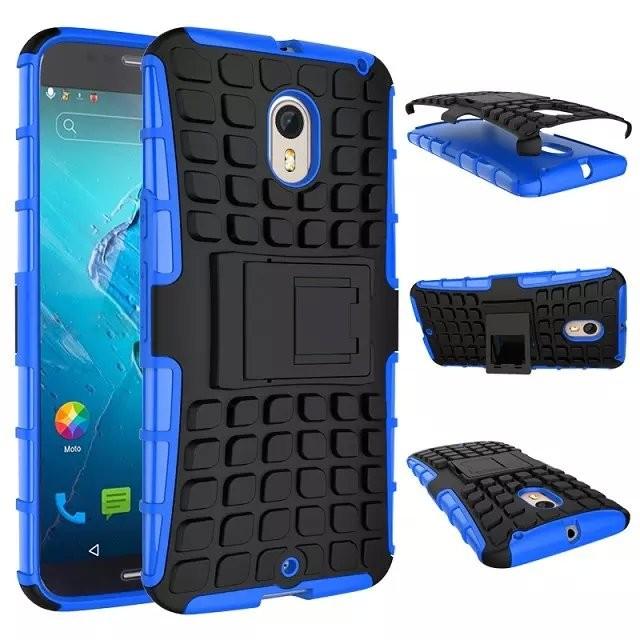 Armourdillo Hybrid Protective Case for Motorola Moto X Style - Blue