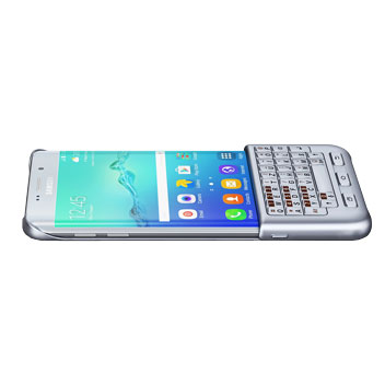 Official Samsung Galaxy S6 Edge Plus QWERTZ Keyboard Cover - Silver