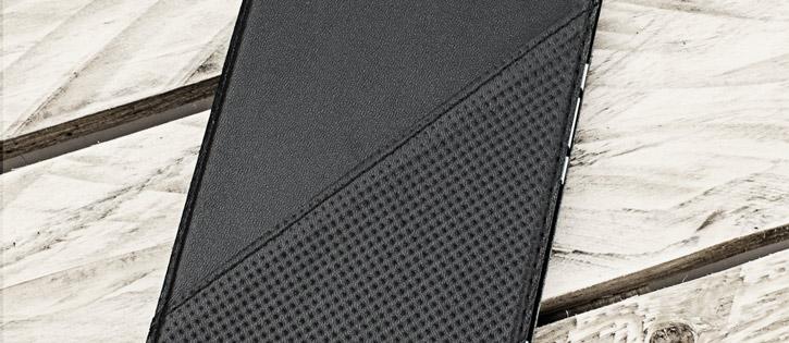 Mozo Microsoft Lumia 950 XL Genuine Leather Flip Cover - Black