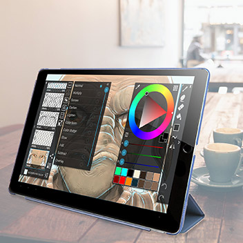 Olixar iPad Pro Smart Cover with Hard Case - Blue