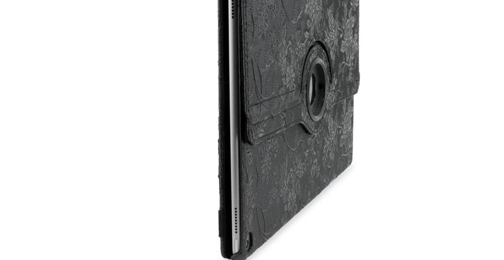 Olixar Floral Pattern Rotating iPad Pro Smart Case - Black