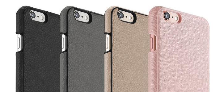 Just Mobile Quattro Genuine Leather iPhone 6S Plus / 6 Plus Case - Beige
