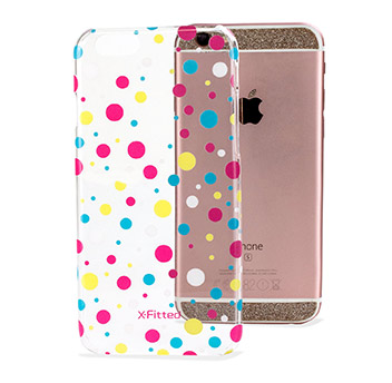 X-Fitted Dots iPhone 6S / 6 Case - Clear / Multicoloured