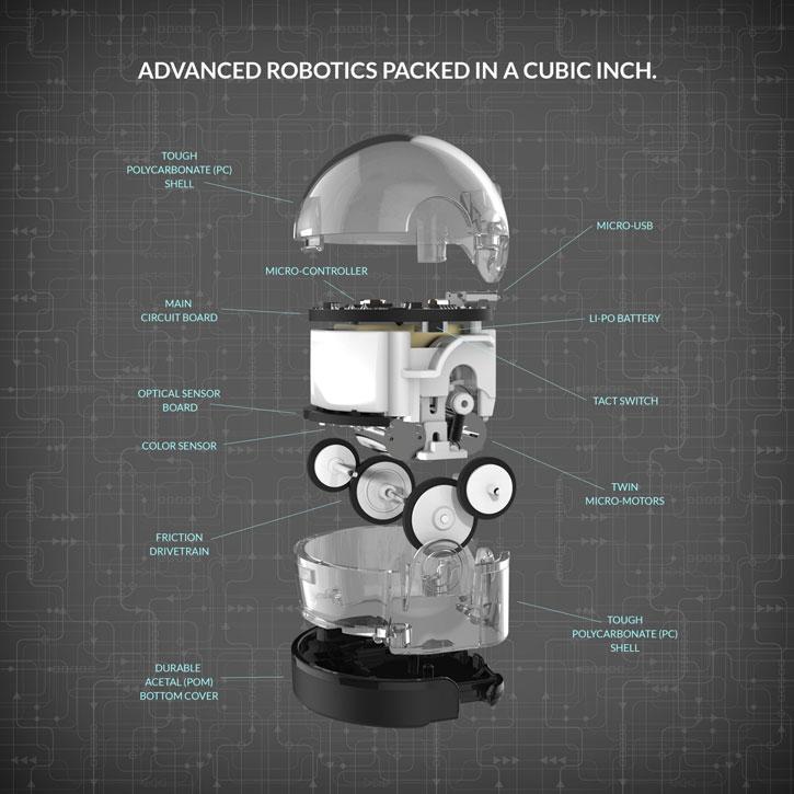 Ozobot 2.0 Bit Robot Double Pack - Titanium Black & Crystal White