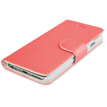 Olixar Leather-Style iPhone 6S / 6 Wallet Stand Case - Rose Gold
