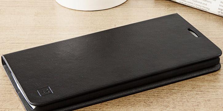 Olixar Leather-Style LG V10 Wallet Stand Case - Black