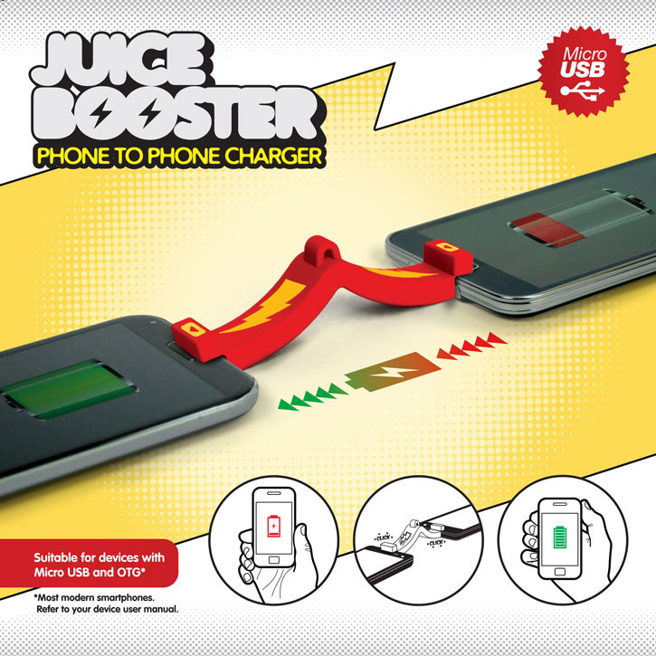 Mustard Juice Booster Smartphone to Smartphone Portable Charger