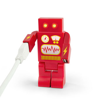 RoboHub 2000 4-Port USB Novelty Robot Hub - Red