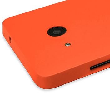 Mozo Microsoft Lumia 550 Back Cover Case - Orange