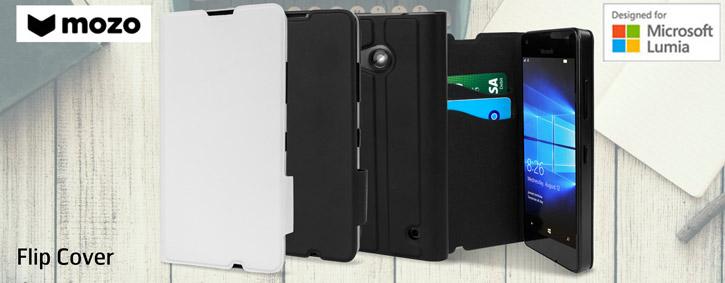 Mozo Microsoft Lumia 550 Flip Cover Case - Black