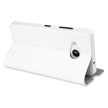 Mozo Microsoft Lumia 550 Flip Cover Case - White