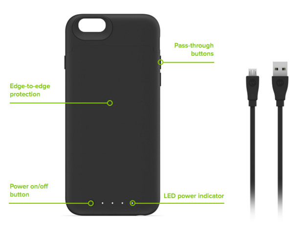 Mophie Juice Pack Reserve iPhone 6S / 6 Battery Case - Black