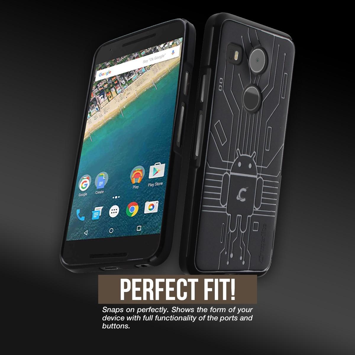 Cruzerlite Bugdroid Circuit Nexus 5X Case - Black