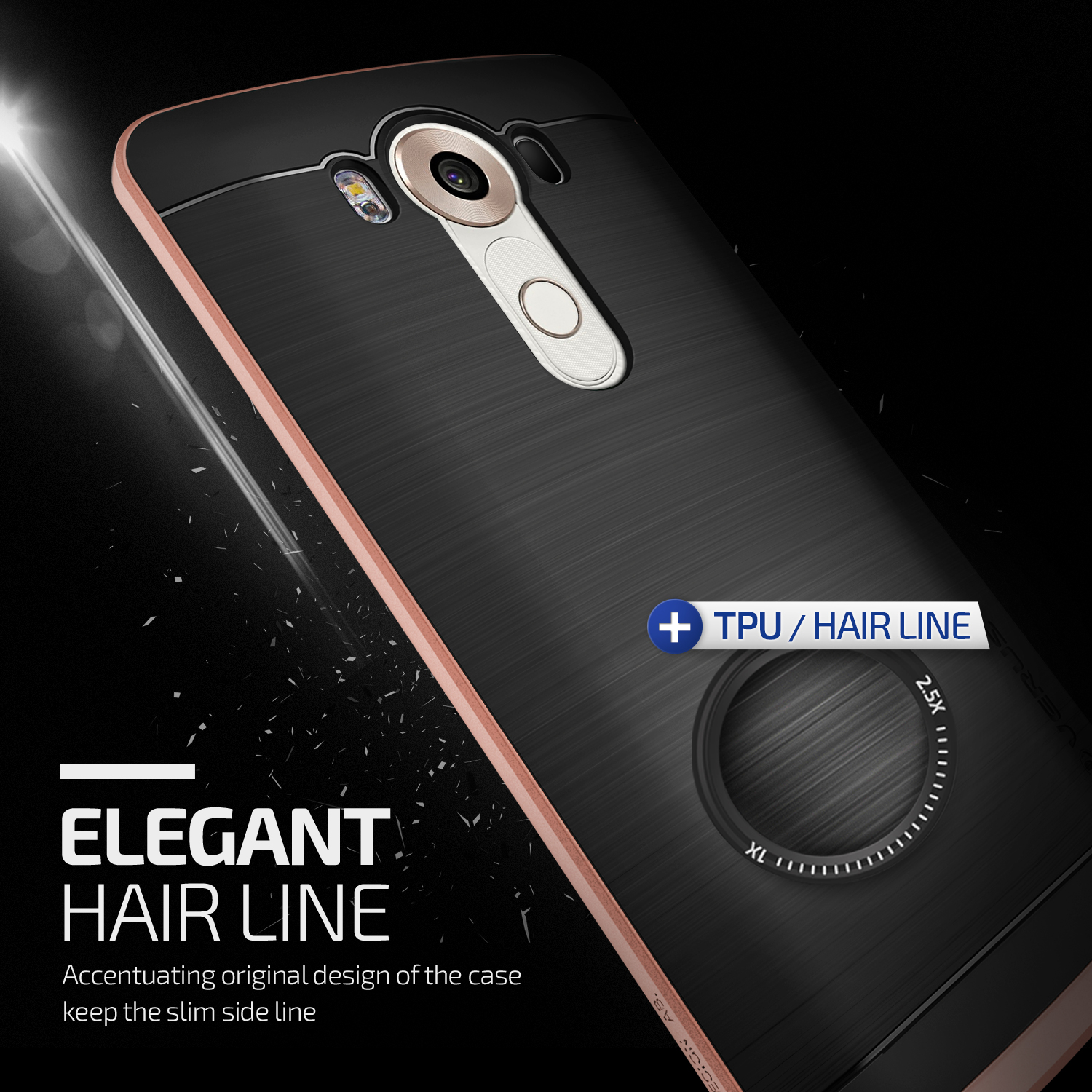 Verus High Pro Shield Series LG V10 Case - Rose Gold