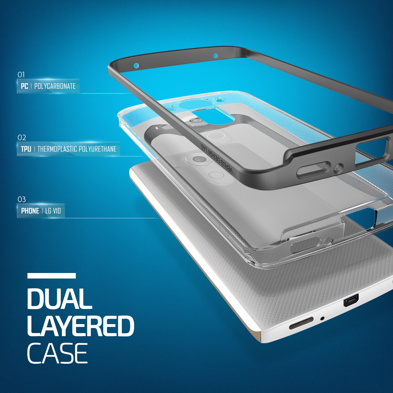 Verus Crystal Bumper LG V10 Case - Steel Silver