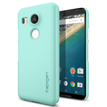spigen thin fit nexus 5x shell case mint read the