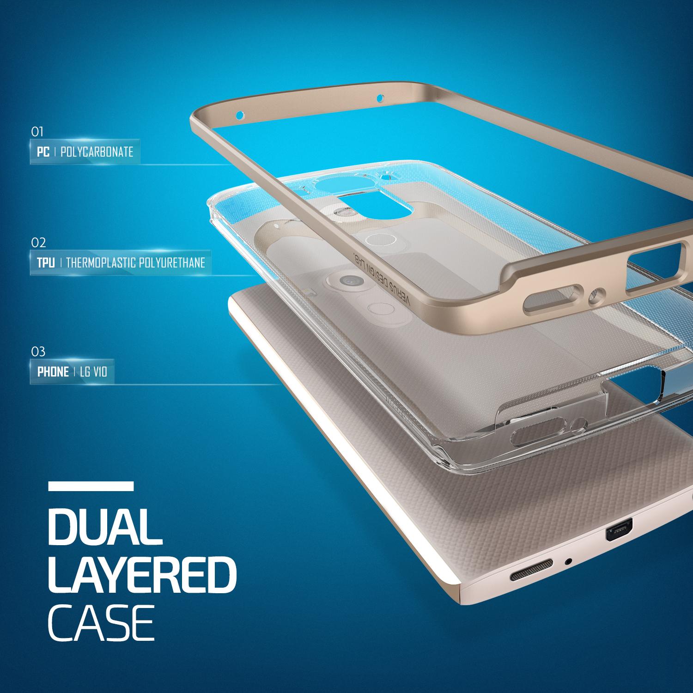 Verus Crystal Bumper LG V10 Case - Shine Gold