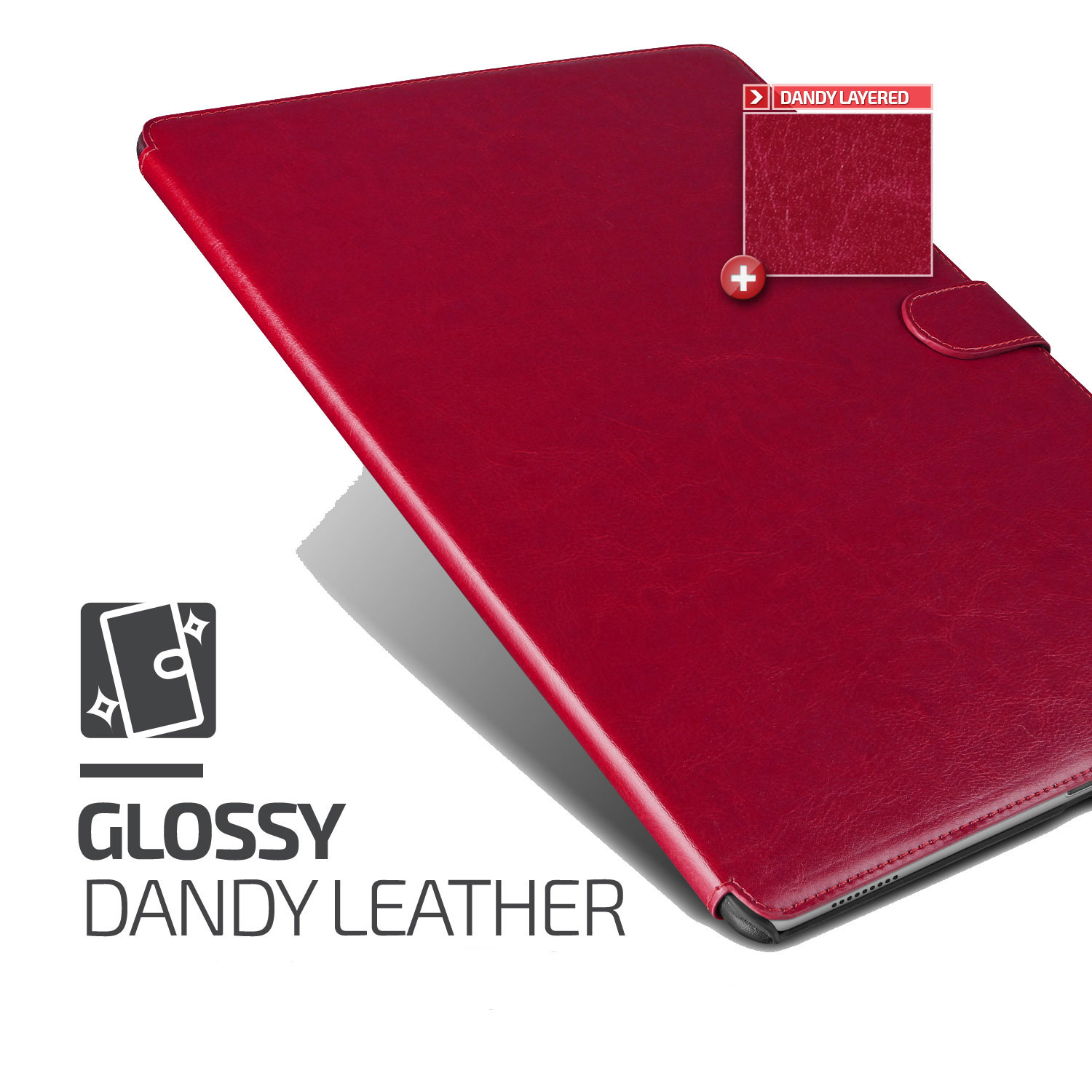 Verus Dandy Leather-Style iPad Pro Case - Wine