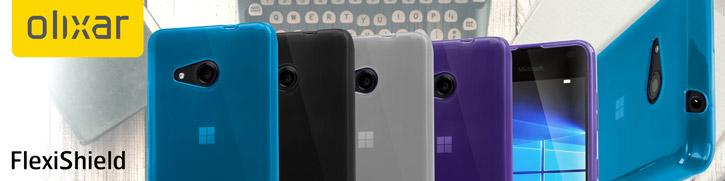 FlexiShield Microsoft Lumia 550 Gel Case - Solid Black